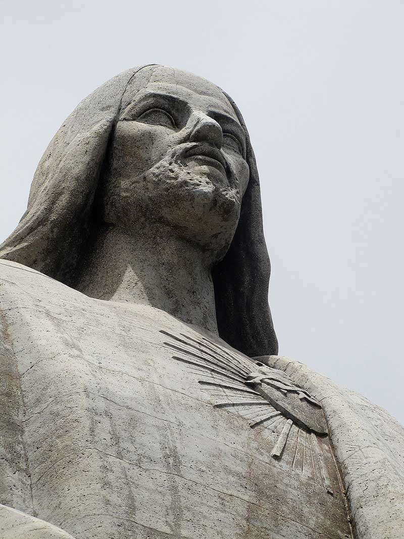 cristo rei garajar madeira close-up