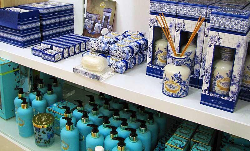 boutique store shopping soap