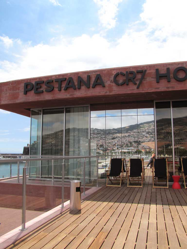 pestana deck terrace with view on funchal