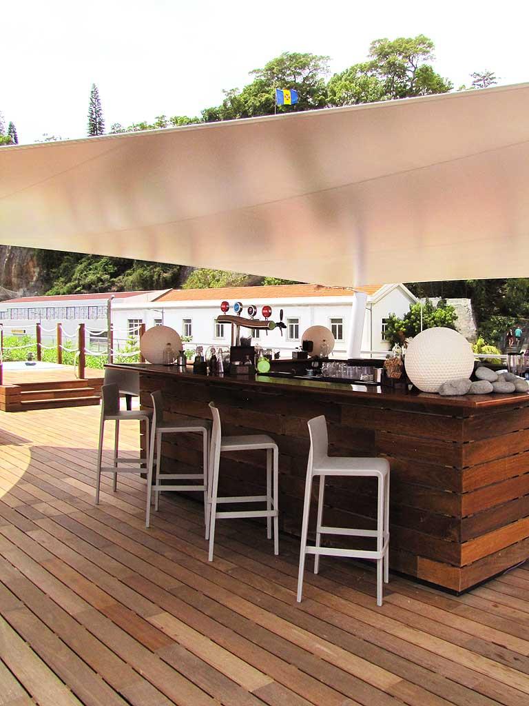 pestana pool bar with view on funchal