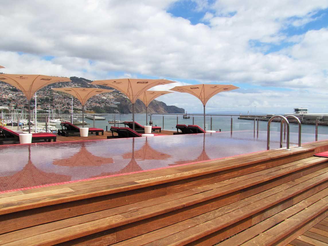 pestana pool deck view on funchal
