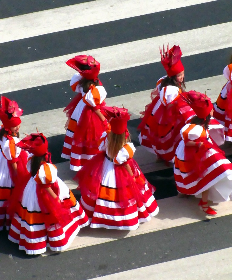 flower festival madeira dancing girls flower dresses