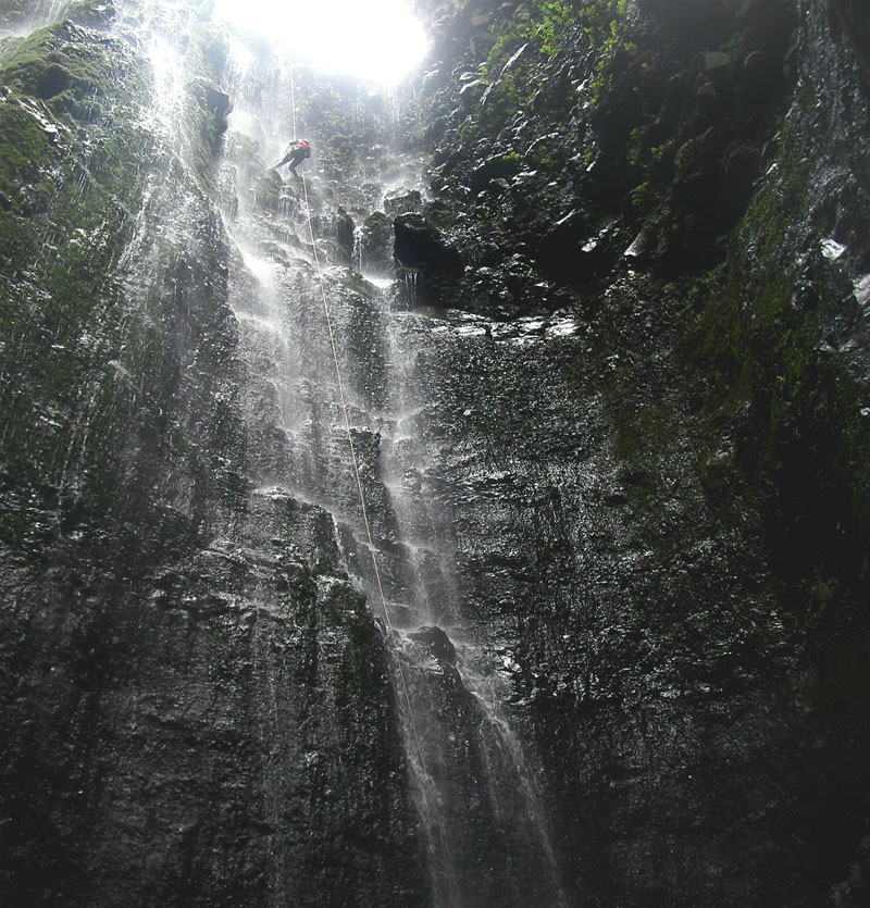abseiling madeira high waterfall