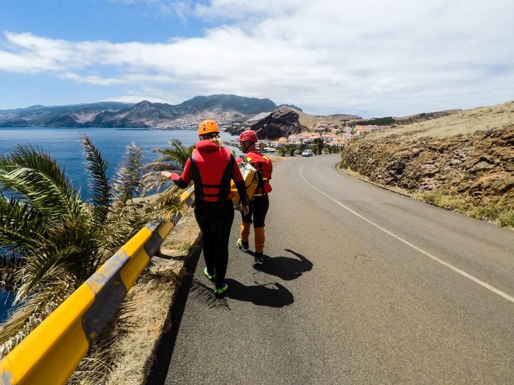 Coasteering Madeira Ponta de Sao Lourenco road