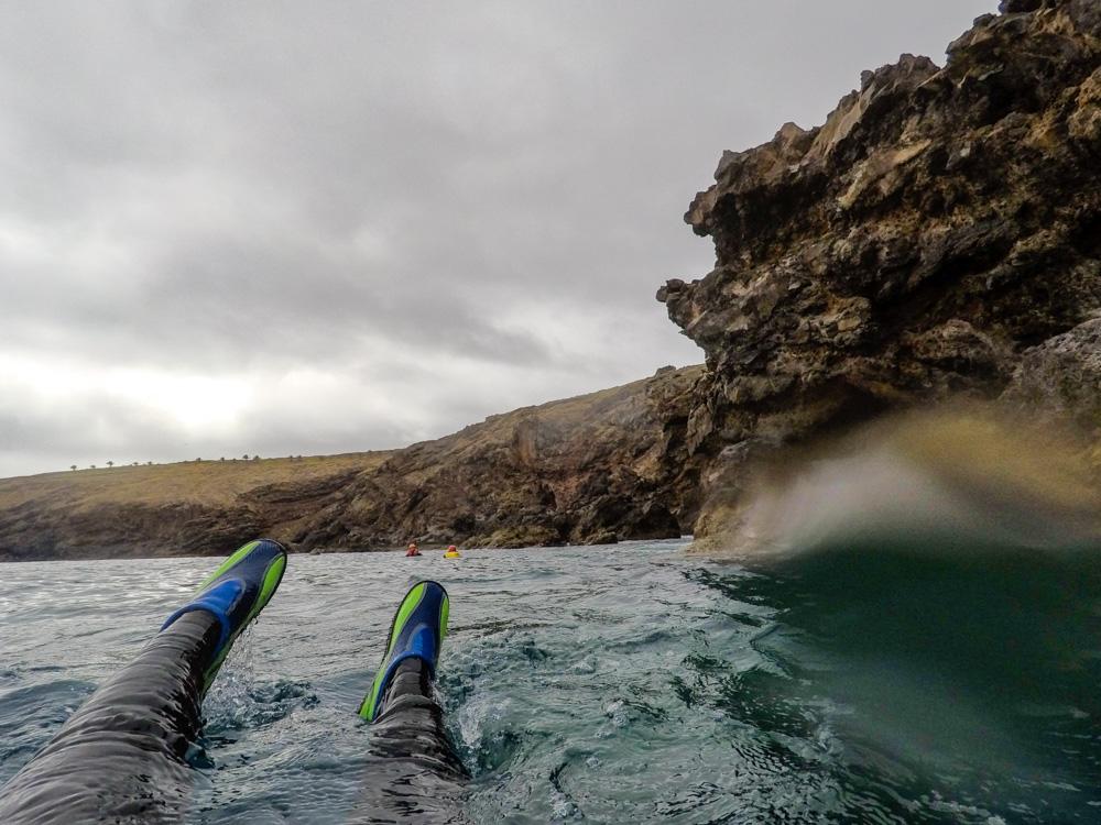 coasteering Madeira floating