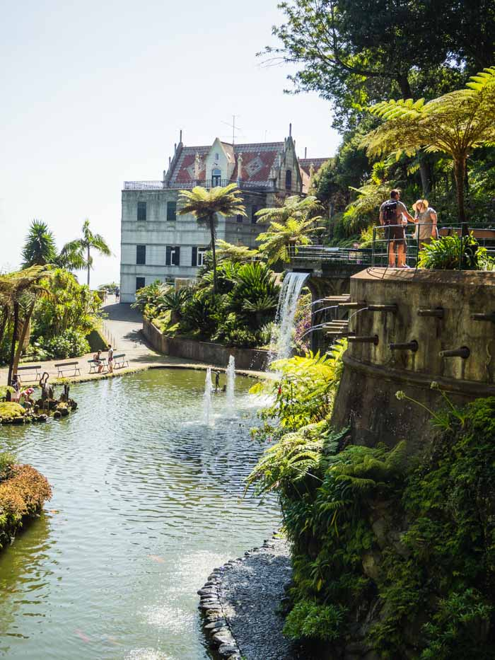monte palace tropical garden paleis met waterval