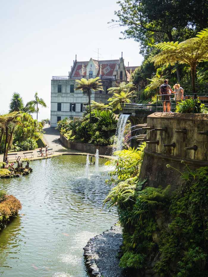 monte palace tropical garden paleis met waterval