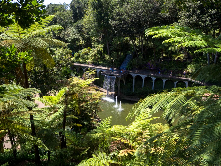 monte palace tropical garden waterval