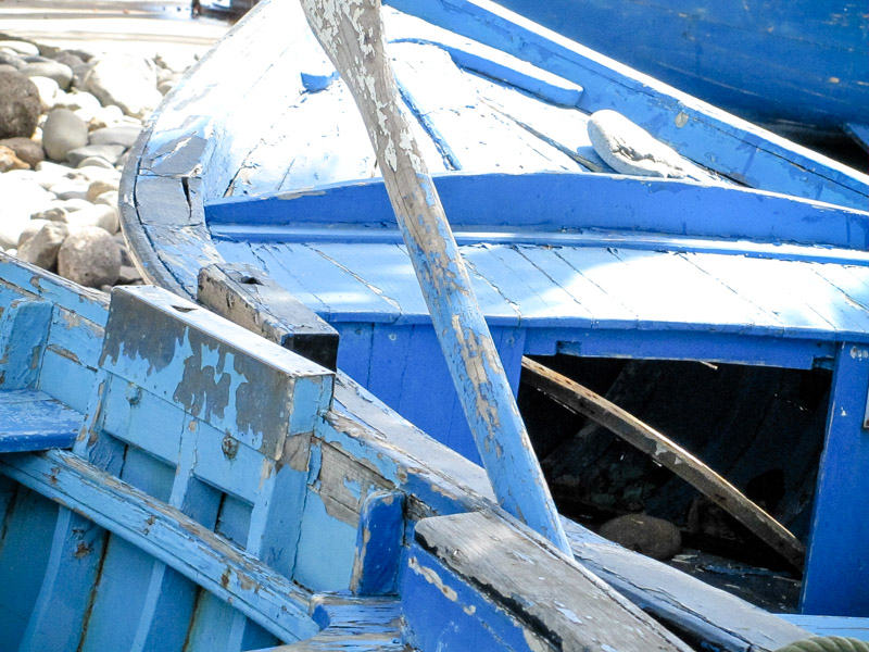 Santa Cruz oude vissersboot