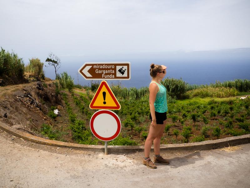 Garganta Funda waterval uitkijkpunt Madeira